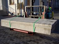 Steel transportation pallets for concrete elements