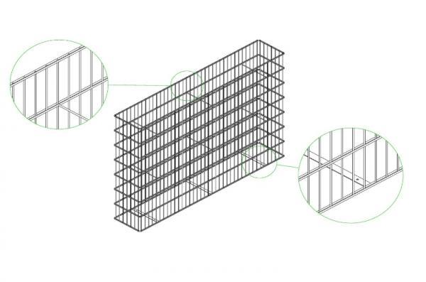 vertical gabion